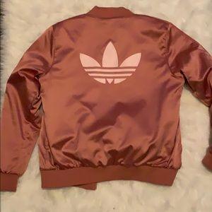 Adidas pink bomber jacket